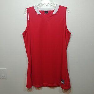 NIKE Women's Red Dri-Fit Basketball Jersey Tank XL